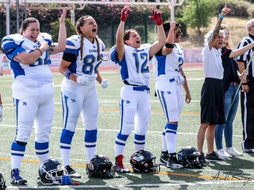 campionato nazionale football americano femminile partita vs nazionale spagnola